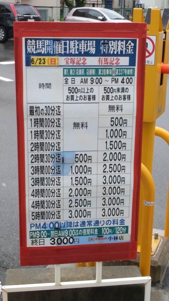 宝塚記念 駐車料金